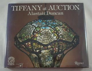 Rare Tiffany Studios Bronze Favrile Glass Lamp At Book Alastair Duncan