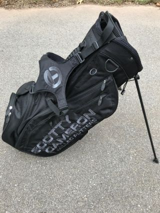 Rare Scotty Cameron Circle T Pinflag Stand Bag Black W Raincover