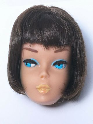 Vintage Barbie American Girl Brunette Head Only Tlc Great Display