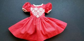 "Vintage 1950,  S Coral Doll Dress With Panties For 16 "" Mary Hoyer Sweet Sue Ect"