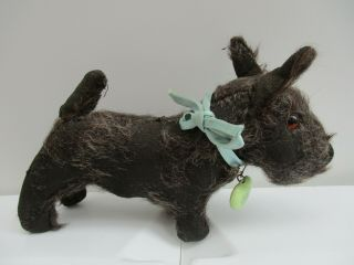 A Vintage Chad Valley Mohair Scottie Dog Teddy Bear Companion.