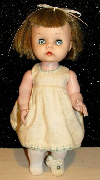 "Vintage 1950s R&b Arranbee Littlest Angel Doll 10.  5 "" Tall Vinyl Hp Unmarked Doll"