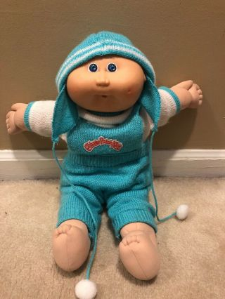 Vintage 1986 Bald Baby Cabbage Patch Doll W/original Cabbage Patch Kids Jumper