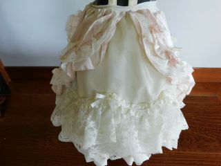 "Vtg Lace Trimmed Doll Dress For Antique Doll 18 - 20 "" & Shoes Bloomers"
