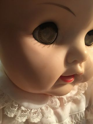 Vinyl Rubber Head Limbs 20 In.  Baby Big Eyes Doll Tlc.