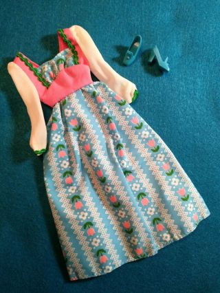 Vtg Barbie Best Buy 9555 Sweet 16 Blue & Pink Peasant Dress & Nm