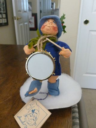 Vintage Annalee Little Drummer Boy - 1988 - Little Gold Drum