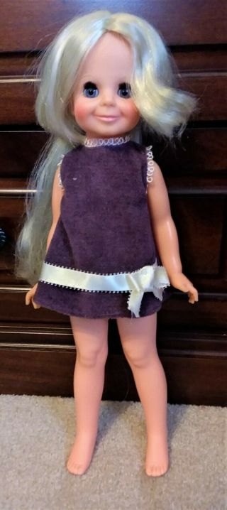 Vintage 1970 Ideal Velvet Grow Hair Doll In Clothes Crissy Family