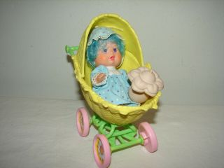 Vintage Strawberry Shortcake Blueberry Berry Baby Complete,  Stroller
