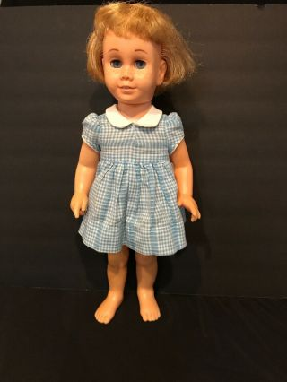 Vintage Chatty Cathy Doll By Mattel,  1960's Blonde