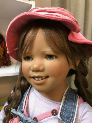 "Divi Annette Himstedt Doll 2007 Kinder 35 "" Adorable Girl Very Rare"