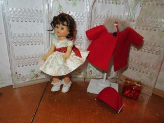 "Vintage Hard Plastic Virga 8 "" Walker Doll Christmas Soon - Ginny Friend"