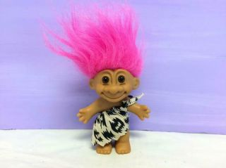 Vintage Russ Troll,  Cave Man,  Cave Girl,  Flintstones Troll,  Collectible,  Cute 90