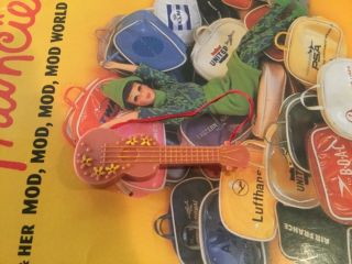 Vintage Liddle Kiddles Sears Beat - A - Diddle Guitar Ex.