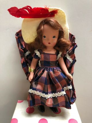 "5.  5"" Vintage Nancy Ann Plastic Doll One Two Button My Shoe 113"