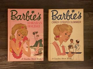 1965 & 1963 Vintage Barbie Novels: Candy - Striped Summer & Hawaiian Holiday.