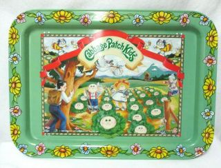 Cabbage Patch Kids 1983 Vintage Metal Lap Tv Tray With Folding Legs 17 X 12.  5