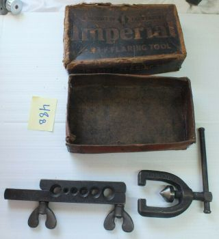 """Antique Tube Flaring Tool Set Imperial Brass Chicago 93 - F Size 3/16 - 1/2 """""""