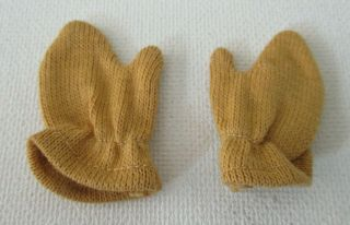 Vintage Barbie: Ken 791 Fun On Ice Gold Mittens Gloves