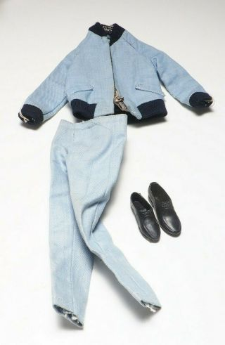 Vintage Ken Outfit - Blue Suit With Shoes
