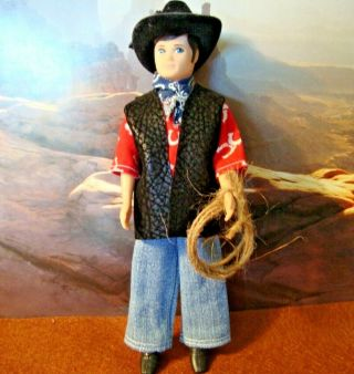 Vintage Topper Dawn Gary Doll Outfit Cow Boy.  Love This One