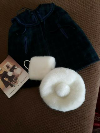 American Girl Samantha Plaid Winter Cape,  Muff,  And Hat Vintage Pleasant Co.