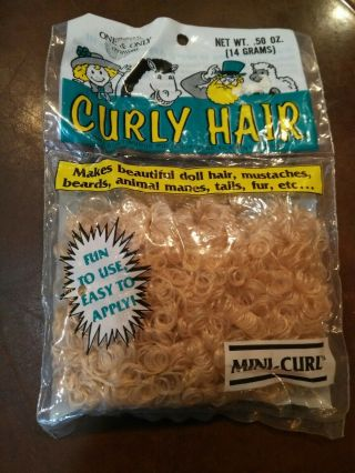 Vintage One & Only Creations Curly Doll Hair Sandy Blonde Mini - Curl 06 - 500
