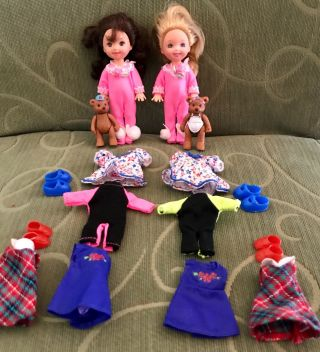 Barbie (no Package) Kelly Club Friends In Pink Rabbit Foot Pj
