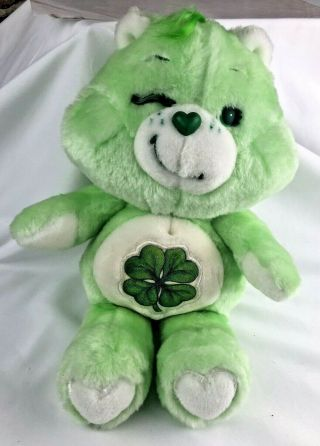 Care Bear Good Luck 1983 Winking Stuffed Plush Vintage Carebear Animal Doll Toy