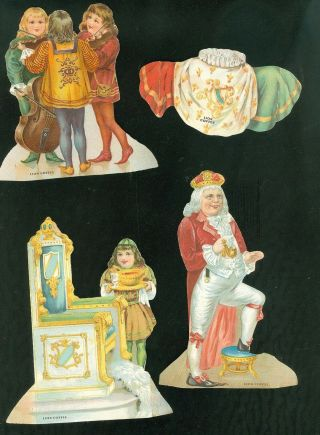 Lion Coffee Nursery Rhyme Paper Doll Set - Old King Cole - Complete No.  1