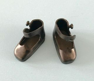 Vintage American Character Tiny Betsy Mccall Black Doll Shoes