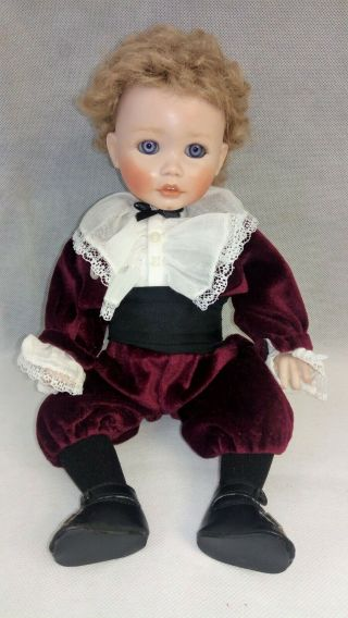 Vintage Porcelain Bisque Playtime In Fall Doll By Pauline Marie Malnar Rahija 14