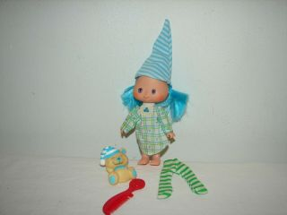 Vintage Strawberry Shortcake Blueberry Muffin Sweet Sleeper Doll And Pet