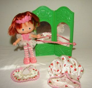 Vintage Strawberry Shortcake Ballerina Doll With Accessories