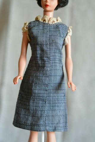 Vintage Barbie Handmade Grey Dress,  60s