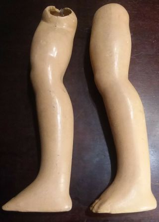 "Large Doll Parts Set Legs Vintage For Repair 11 3/8 "" Tall"