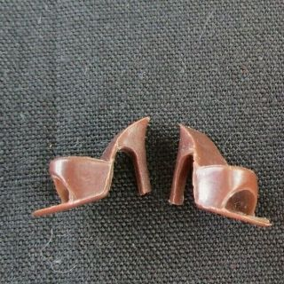 Vintage Barbie Brown Open Toe Shoes Heels Saturday Matinee Sorority Splendour
