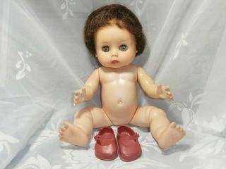 "Vintage R & B Arranbee 1950s Sweet Pea Drink & Wet Soft Vinyl 11 "" Baby Doll"