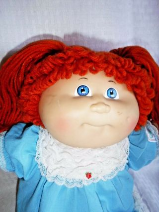 "Vintage Cabbage Patch Kids 17 "" Oaa Inc.  1985 Coleco Orange Yarn Hair Doll"