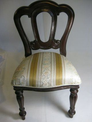 "Old Style Victorian Wood Doll Chair - 13 "" Tall -"
