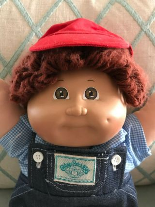 Vintage Auburn Hair Boy Cabbage Patch Kids Doll 1978 To 1982 Clothes
