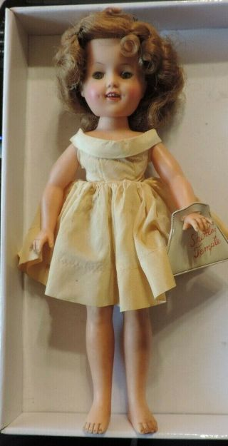 Vintage Shirley Temple Ideal Doll St - 12n With Htf Purse
