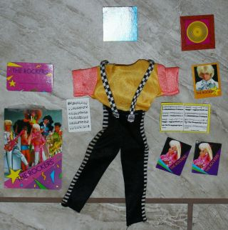 Barbie Ken Vintage Clothes The Rockers 80