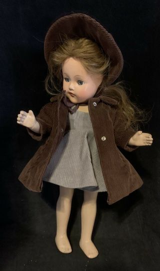 """Effanbee Little Lady Anne Shirley 15"""" Compostion Girl Doll Vintage 1940's"""