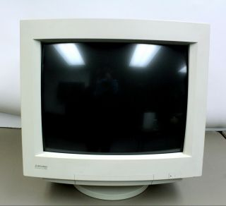 Rare Mitsubishi 1600x1200 Video Monitor Fr8905skhk Diamond Scan 20h Gaming Crt