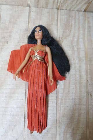 "Vintage 1975 Cher Mego Celebrity 12 "" Doll In Red Dress"