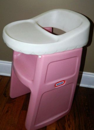 """Vintage Little Tikes Pink High Chair 24 """" Fits American Girl Child Doll Size Toy"""