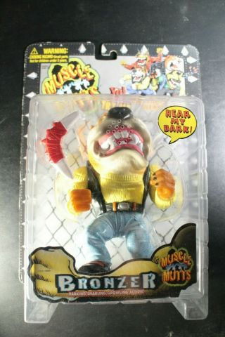 1996 Street Wise Muscle Mutts Bronzer Rare