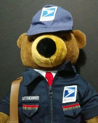 Vintage Usps Collectible Stuffed Patriot Bear Jj Wind Inc 1994