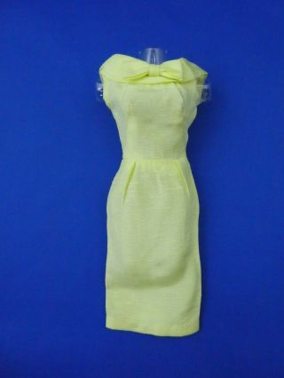 Early Vintage Barbie - Pak Yellow Silk Sheath - Vgc